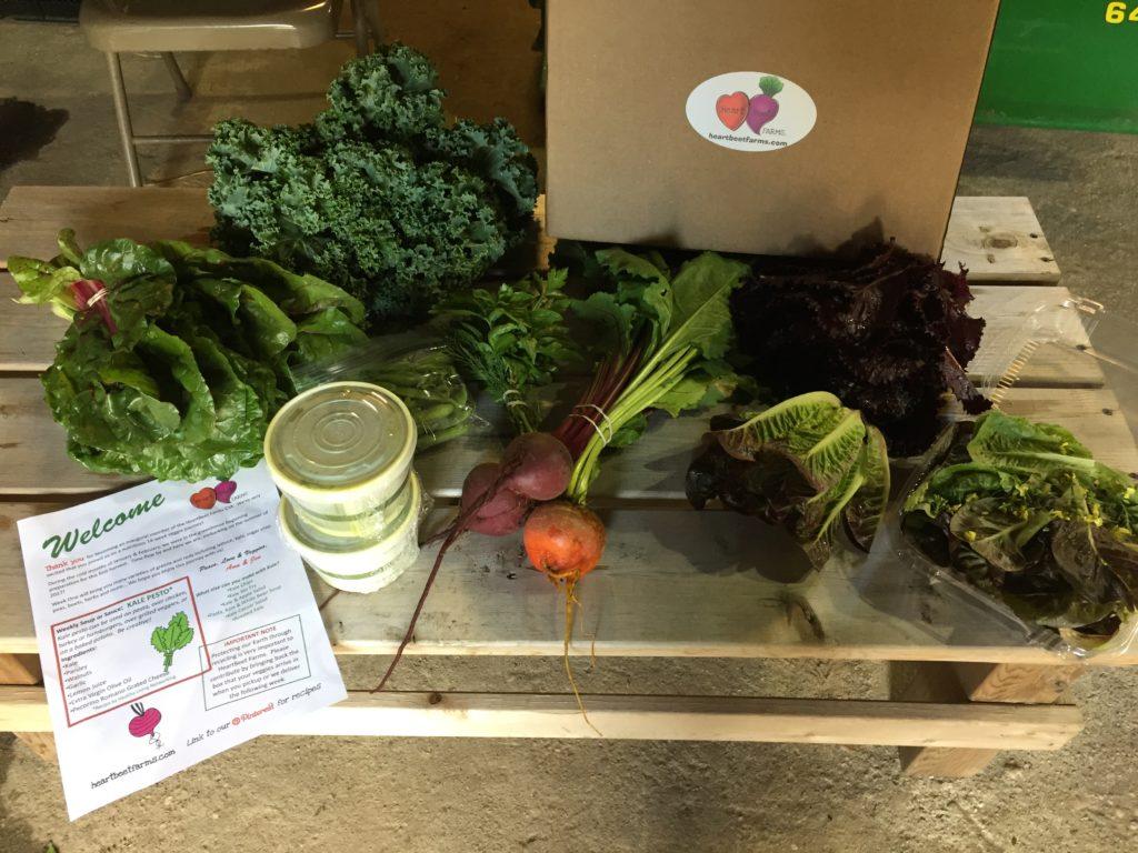 Experience New Tastes - HeartBeet Farms CSA Week 1