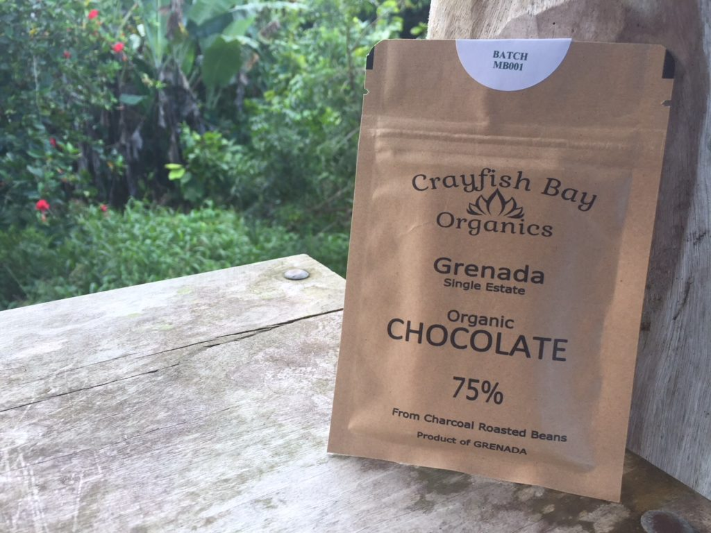 Crayfish Bay Organics 75% Chocolate Bar