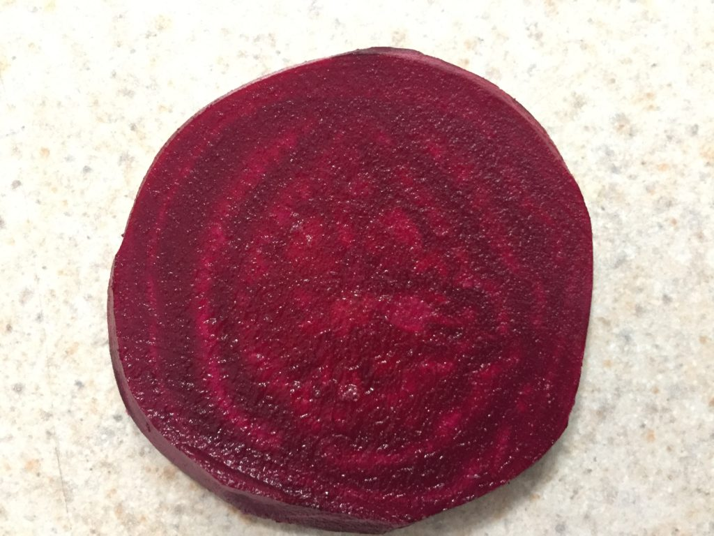 Slice of Red Beet from HeartBeet Farms