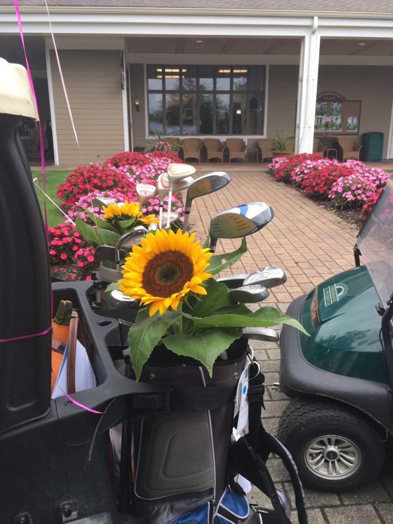 Sunflower in the golf bag