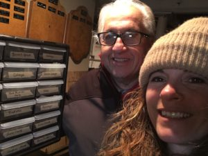 Jen and Pete design a seed storage cabinet