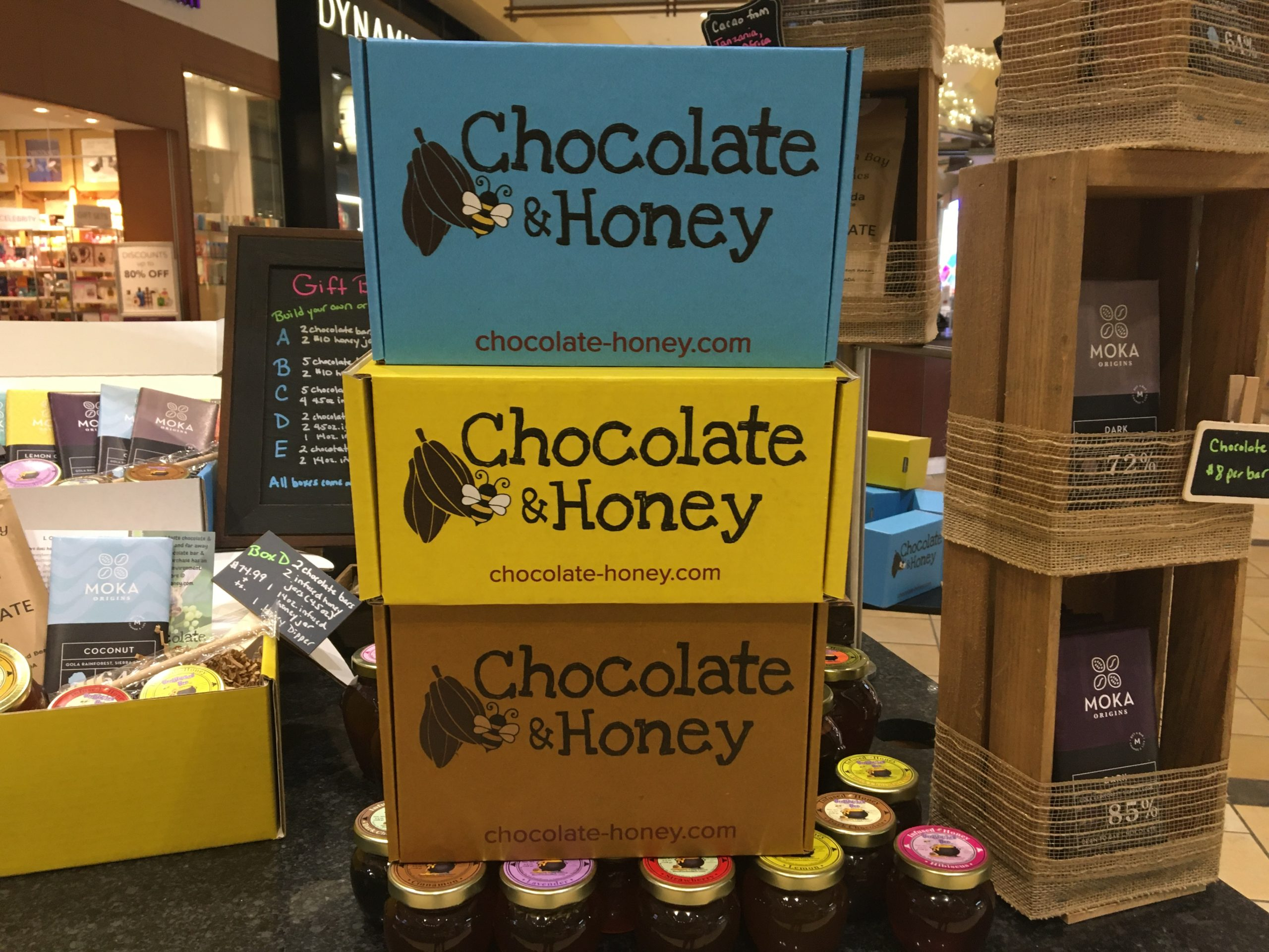 chocolate and honey gift boxes