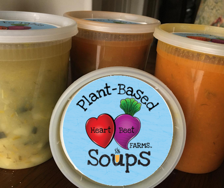 HeartBeet Farms plant based soups