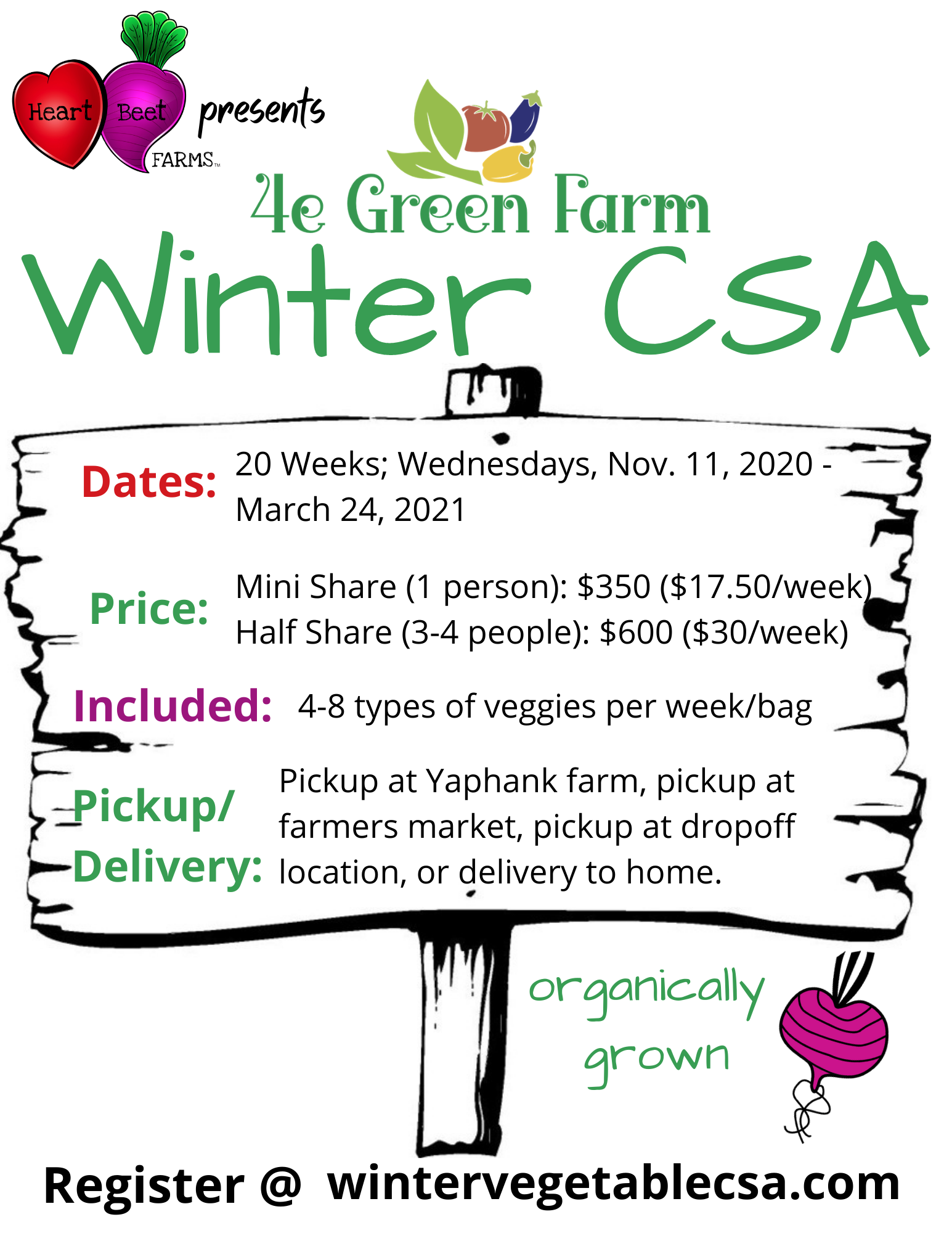 Winter Vegetable CSA