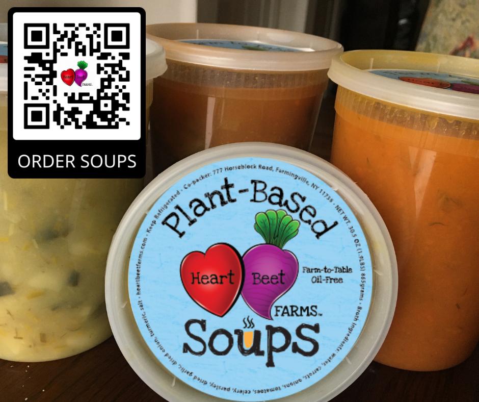 Plant-based soups label