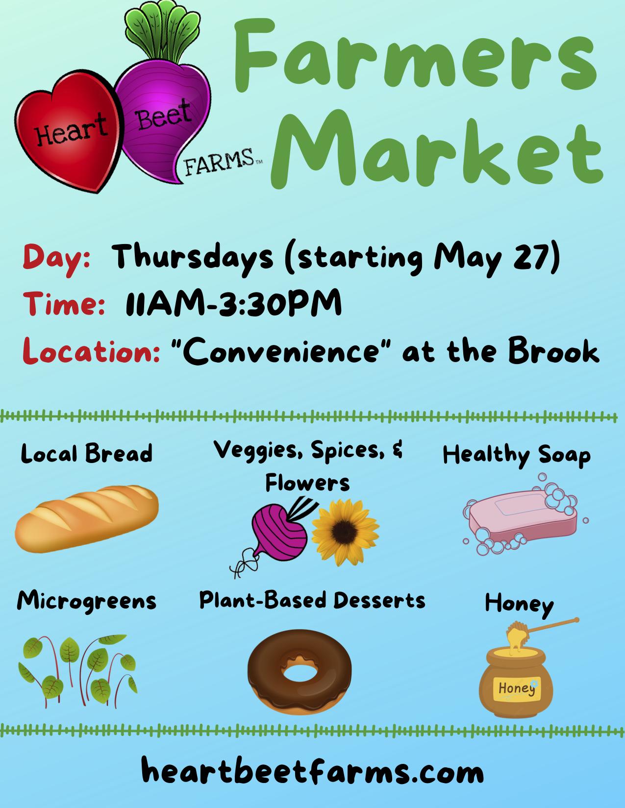 HeartBeet Farms Stony Brook Hospital Farmers Market